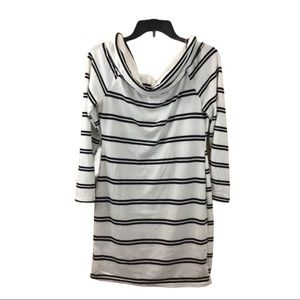J for Justify Striped Cowl Neck Dress